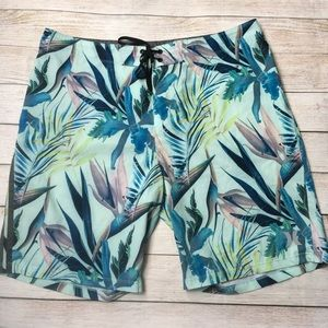 HURLEY | tropical print swim trunks shorts 36